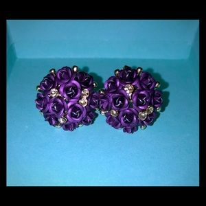 Betsey Johnson Rose Bouquet Earrings